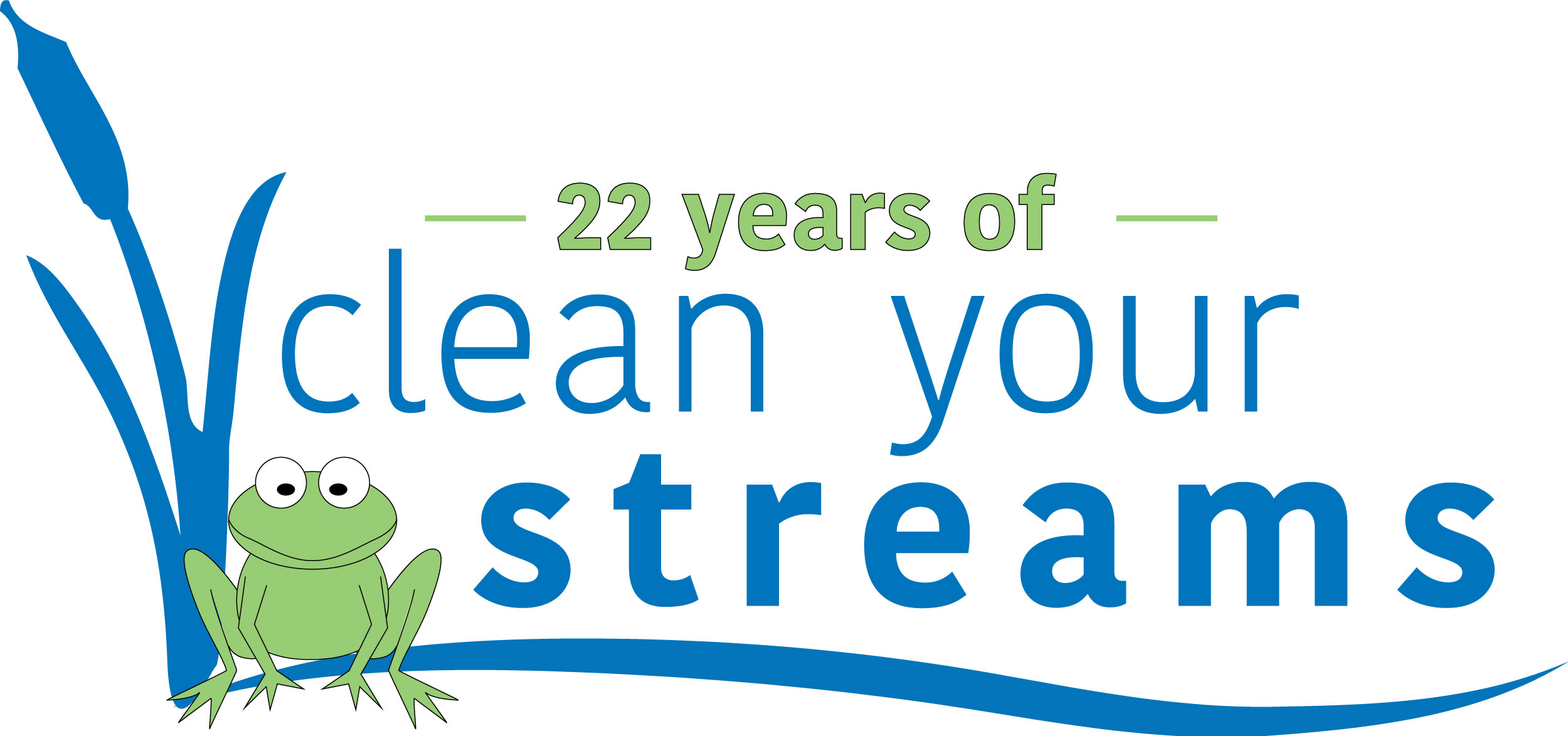 Celebrating 22 Years of Clean Streams!<p>Over the past 22 CYS cleanups, 301,681 pounds of trash have been collected by 12,134 volunteers.</p>